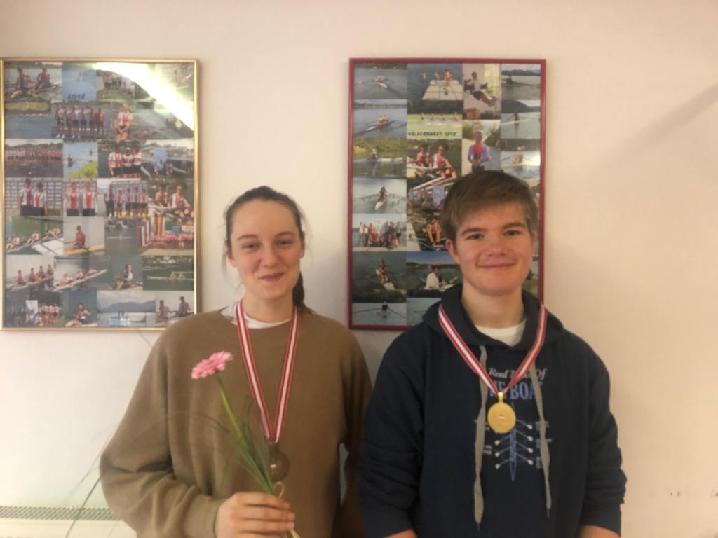 Indoor Meisterschaft Emma Damberger und Lorenz Reitzinger